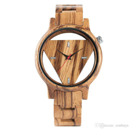 $enCountryForm.capitalKeyWord UK - Creative Hollow Trendy Fashion Men Full Wood Quartz-watch Wristwatch Natural Wooden Watch Simple Cool New Arrival Man's Clock Gift for