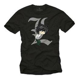 Anime deAth note online shopping - Mens T Shirt Death L Black Manga Anime Note Comic Gift Boys Men