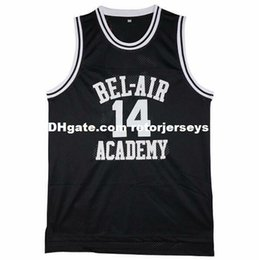 Wholesale Cheap Customize The Fresh Prince of Bel Air Academy Retro Basketball Jerseys Will Smith Black Green Yellow Stitch XS XL