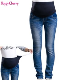 f9a7a5499dfb4 Maternity Jeans For Pregnant Woman Pregnancy Denim Pants Winter Thicken Trousers  Maternity Clothing Long Prop Belly Legging Pant Y19052003