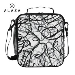 Canvas Lunch Box Bag Australia - ALAZA Fashion Printing Waterproof Lunch Bag for Women Kids Men Cooler Lunch Box Bag Canvas Insulation Package Portable