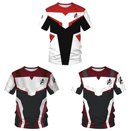 T Shirt Digital Printing Sport Australia - Summer New Avenger Alliance 4 Quantum Warfare Clothes Digital Printed Couple Short Sleeve T-shirt Leisure Sports Top
