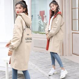 Wholesale black trench coats for sale - Group buy women designer jackets Fashion Women Trench Coat Plus Size Hoodie Windbreaker Pockets Button Lightweight Coat Girls Overcoat Two wear