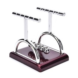 Toys & Hobbies Early Fun Development Educational Desk Toy Cradle Steel Balance Ball Physic School Educational Supplies Home Decor For Kids