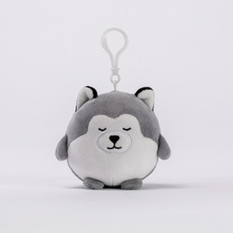 Husky Toys UK - 8cm Husky Plush Toys the Most Popular Plush Key Chain Toys Cartoon Animals Doll Mini Plush Furnishing Articles