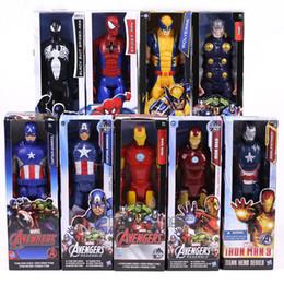 $enCountryForm.capitalKeyWord Australia - Marvel Titan Hero Series Captain America Thor Iron Man Spiderman Logan Iron Patriot Pvc Action Figure Kids Toy Gift 12inch 30cm