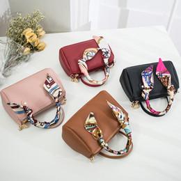 Cotton Viscose Scarves Australia - 2019 Scarf Mini Women Boston Handbag PU Leather Pillow Pack Sling Shoulder Crossbody Messenger Bag Small Chain Hand bag for Girl