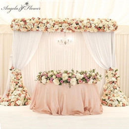 $enCountryForm.capitalKeyWord Australia - 1m 2m Luxury Artificial Flower Row Arrangement Decor For Party Wedding Arch Backdrop Road Cited Flower Rose Peony Hydrangea Mix J190707