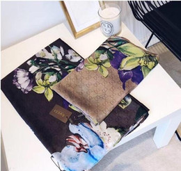 flower bikini woman NZ - New arrival Silk Scarf Women High Quality Italy Flower Silk scarves Scarfs 180x90cm Pashmina Infinity Scarf Women Shawls Bikini Cover