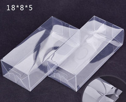 Clear Gift Wrapping Paper Australia - 200pcs lot Large Rectangular Plastic Transparent Box Clear PVC Plastic Packaging Box Sample Gift Crafts Display Boxes SN3051
