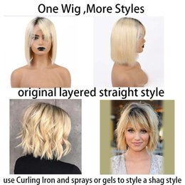TransparenT wig online shopping - Glueless Lace Front Wigs Inch Deep Lace Parting Black Ombre Blonde ColorBrazilian Remy Human Hair Density