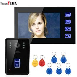 "$enCountryForm.capitalKeyWord Australia - SmartYIBA 7"" RFID Video Door Phone Intercom Doorbell Touch Button Video Intercom System Release Unlock for Private House"