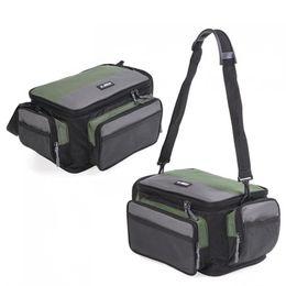 Waist Lure Australia - Two-tone Outdoor Fishing Bag Multifunctional Waterproof Oxford Cloth Waist Shoulder Messenger Fishing Lure Camera Storage Bag #894049