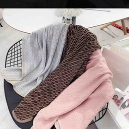 Wholesale Luxury Designer Baby Blanket Knitted Newborn Swaddle Wrap Blankets Super Soft Toddler Infant Bedding Quilt for Free Shipping