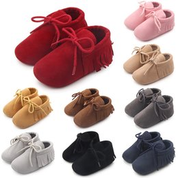 moccasins for baby girls 2019 - Baby Girl Shoes Boy Girl Soft Moccs Fringe Soft Soled Footwear Shallow Newborn Baby Moccasins for Autumn Spring shoes Gi