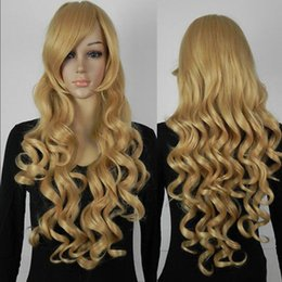$enCountryForm.capitalKeyWord Australia - WIGLL Long Yellow Wavy Cosplay Fancy-Dress Party Hair Full Cosplay Anime Wig