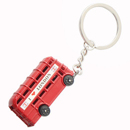 $enCountryForm.capitalKeyWord NZ - UK i love london red bus Black Taxi key chains high quality Personality silver plated KeyChains