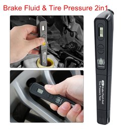 $enCountryForm.capitalKeyWord Australia - Newest Brake Fluid & Tire pressure 2in1 Fluid Tester Car Diagnostic Tools With Tire pressure tester For DOT3 DOT4 Free Ship
