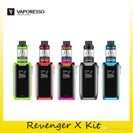 $enCountryForm.capitalKeyWord Australia - Authentic Vaporesso Revenger X Starter Kit 220W Dual 18650 Battery TC Box Mod For Original 5ml NRG Mini Tank 100% Genuine