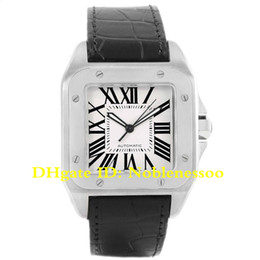 squared watches 2019 - 6 Style Luxury Mens 100 XL Silver Dial Steel Black Strap Watch W20073X8 W200728G W20107X7 W200737G W20072X7 W200728 Men&