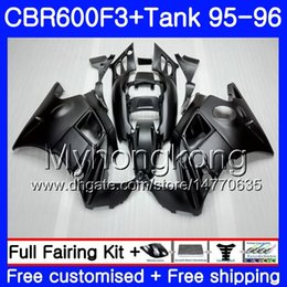 Honda Cbr F3 Fairings Australia - Bodys +Tank For HONDA CBR 600 F3 FS CBR600FS CBR600 F3 95 96 289HM.49 CBR600RR CBR600F3 95 96 CBR 600F3 Matte black full 1995 1996 Fairing