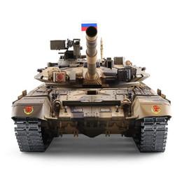 1: 16 versione di aggiornamento serbatoio rc guerra tigre Russia T90 serbatoio remoto modello pista pignone 3938 battle tank outdoor Giocattolo Per Bambini Regalo Y200317 in Offerta