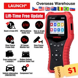 obd ii Canada - LAUNCH CR3008 obd ii code reader scanner lift time free update creader 3008 obd2 diagnostic tool with batter tester function