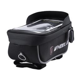 Water Resistant Gps UK - Wheel Up Rainproof Front Zipper Bike Bag MTB Mountain Bike Cycle Touch Screen Phone Bags Waterproof GPS Cycling Pouch Panniers #322999