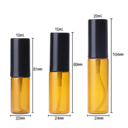pump water bottles Australia - 10ml 15ml 20ml Parfum Empty Bottle Brown Perfume Atomizer Refillable Pump Spray portable Bottle For Fragrance Cosmetics Water Skin Care