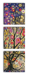 TripTych canvas prinTs online shopping - Money tree triptych room decor painting Handmade Cross Stitch Embroidery Needlework sets counted print on canvas DMC CT CT