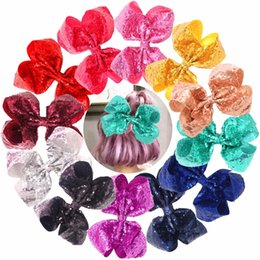 $enCountryForm.capitalKeyWord Australia - Bling 8 Inch Big Sequins Hair Bows Alligator Clips for Girls,Toddlers,Teens,Senior,Women Any Occassion Pack of 12MX190917