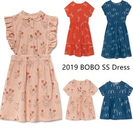 Tiny Clothes Australia - Best Quality ! Bobo Girls Dresses Tiny Cottons Children Beautiful Girls Long Dress Brand Design Kids Summer Clothing Q190522