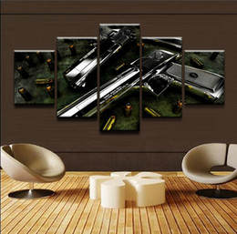 Framed Eagle Painting Australia - Weapon Desert Eagle,5 Pieces Canvas Prints Wall Art Oil Painting Home Decor (Unframed Framed)