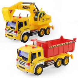 Blue Truck Toy Australia - Big Dump Truck Model Toy Inertial Car for Kids Gift 1 16 Scale Truck oyuncak Gifts For Children