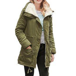 Womens Parkas Australia - ISHOWTIENDA New Womens Warm Long Coat Collar Hooded Jacket Slim Winter Parka Outwear Coats Chaquetas Mujer Invierno Nice Coat