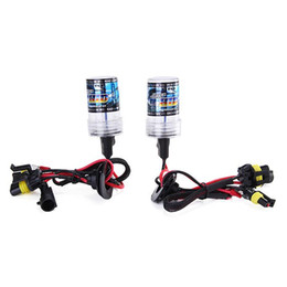 benz headlights UK - 4300K Car H7 55W HID Xenon Headlight Light Lamp Bulb - Black + White ( One Pair )