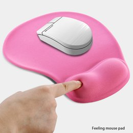 silicon mouse NZ - Office Mousepad with Gel Wrist Support Ergonomic Gaming Desktop Mouse Pad Wrist Rest Design Gamepad Mat Rubber Base for Laptop Comquter S