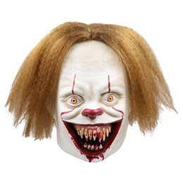 $enCountryForm.capitalKeyWord Australia - New Arrival Funny Movie It Chapter Two Pennywise Cosplay Clown Mask Latex Adult Full Head Scary Halloween Costumes Props Fashion Style Masks