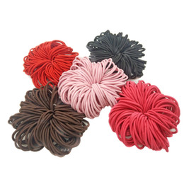 hair rubbers bands UK - 100pcs lot 5CM Hair Accessories Women Rubber Bands Scrunchy Elastic Hair Bands Girls Headband Decorations Ties Gum For Hair
