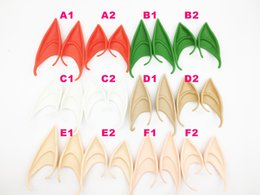 vampire halloween accessories UK - Fluorescent Ear Halloween Fairy Cosplay Accessories Vampire Party Mask For Latex Soft False Ear 10cm And 12cm