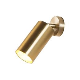 Lighting For Clothing Stores Australia - Modern Gold Metal Pendant Light Spotlight Lamp Simple LED Suspension Lamp For Aisle Clothing Store Background Wall Downlight