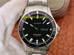 watch eta date Australia - Ocean Star M026.430 Mens Watch Diving Watches ETA 2836 Automatic Mechanical 28800 VPH Date Day Sapphire CNC 316L Stainless Steel Waterproof