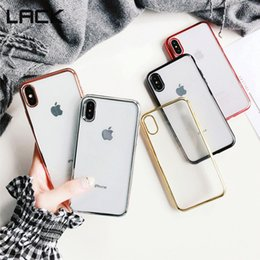 $enCountryForm.capitalKeyWord NZ - Luxury Plating Phone Case For iphone X Case For iPhone 7 6 6S 8 Plus Fashion Clear solid Color Soft TPU Back Cover Fundas