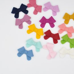 Wholesale 28pcs inch Handmade Felt Hair Bow Clips Tiny Bows for DIY Crafting Baby Girl Hair Accessory