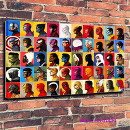 Super Figure Painting NZ - Marvel Characters, Super Heroes, Anime Portret,1 Pieces Canvas Prints Wall Art Oil Painting Home Decor (Unframed Framed) 24x36.