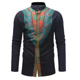 $enCountryForm.capitalKeyWord Australia - Spring New Men's African National Style Top Shirt Men Single-row Button Slim Shirt for Men Long Sleeve Casual Shirt Clothing Men