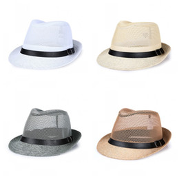 712047d88196b Flax Sunshade Wide Brim Hats Outdoors Sunscreen Small Formal Hat Straw Hat  Middle-Aged And Old Men Fashion Straw Caps 7ycE1