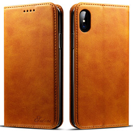 $enCountryForm.capitalKeyWord Australia - For iPhone 8 Xs Max case leather set 8 Plus cell phone shell Apple protective sleeve XR card iphone 7 Flip phone case