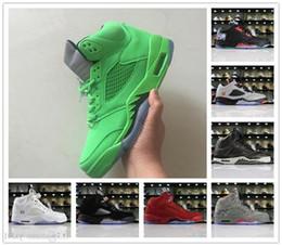 $enCountryForm.capitalKeyWord Australia - Cheap All Green China Kite Premium Heiress Metallic Field Silver Camo Red Suede 5 Basketball Shoes Good Men Women 5s Sports Sneakers 5-13