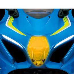 Gsxr cover online shopping - High quality motorcycle accessories essential acrylic front lamp cover protection accessories for SUZUKI GSXR1000 GSX R1000R GSXR